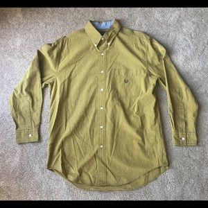 Chaps Indigo Plaid Ralph Lauren Size Medium Yellow